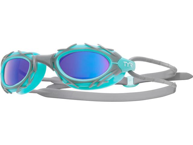 TYR Nest Pro Nano Svømmebriller Metelized grå/turkis (2019) | swim_clothes